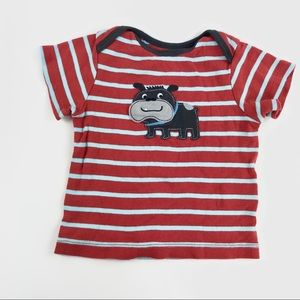 """Carters """"puppy"""" striped t shirt"""